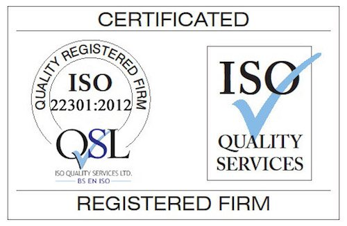 ISO22301 Certified